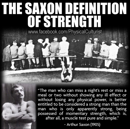 The Arthur Saxon Definition of Strength