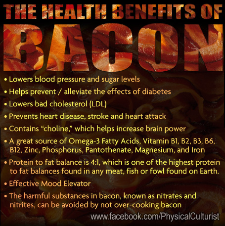 health benefits of eating bacon