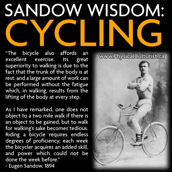 eugen sandow cardio bicycle, cycling