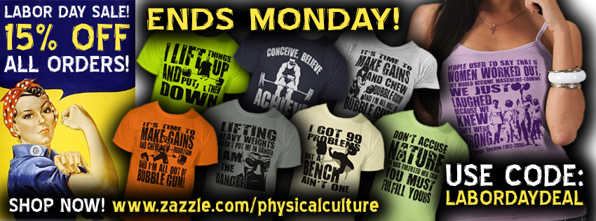 bodybuilding and fitness apparel - labor day sale