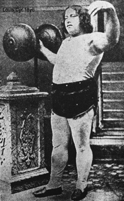 louis cyr strongest man in the world, 18 yeas old