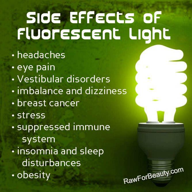 Side Effects of Fluorescent Light