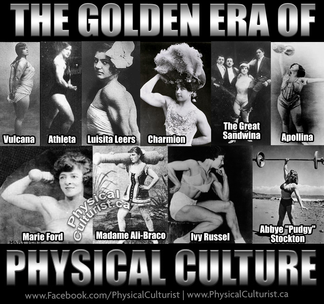 Women's Golden Era of Physical Culture Oldtime Strongwomen
