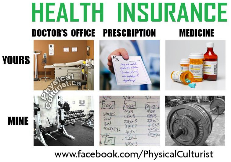 exercise vs medicine and health insurance