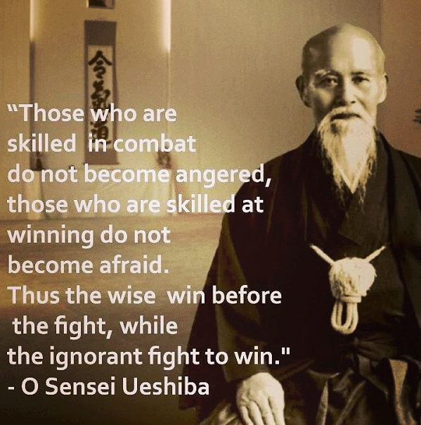 O Sensei Ueshiba Quote - Winning