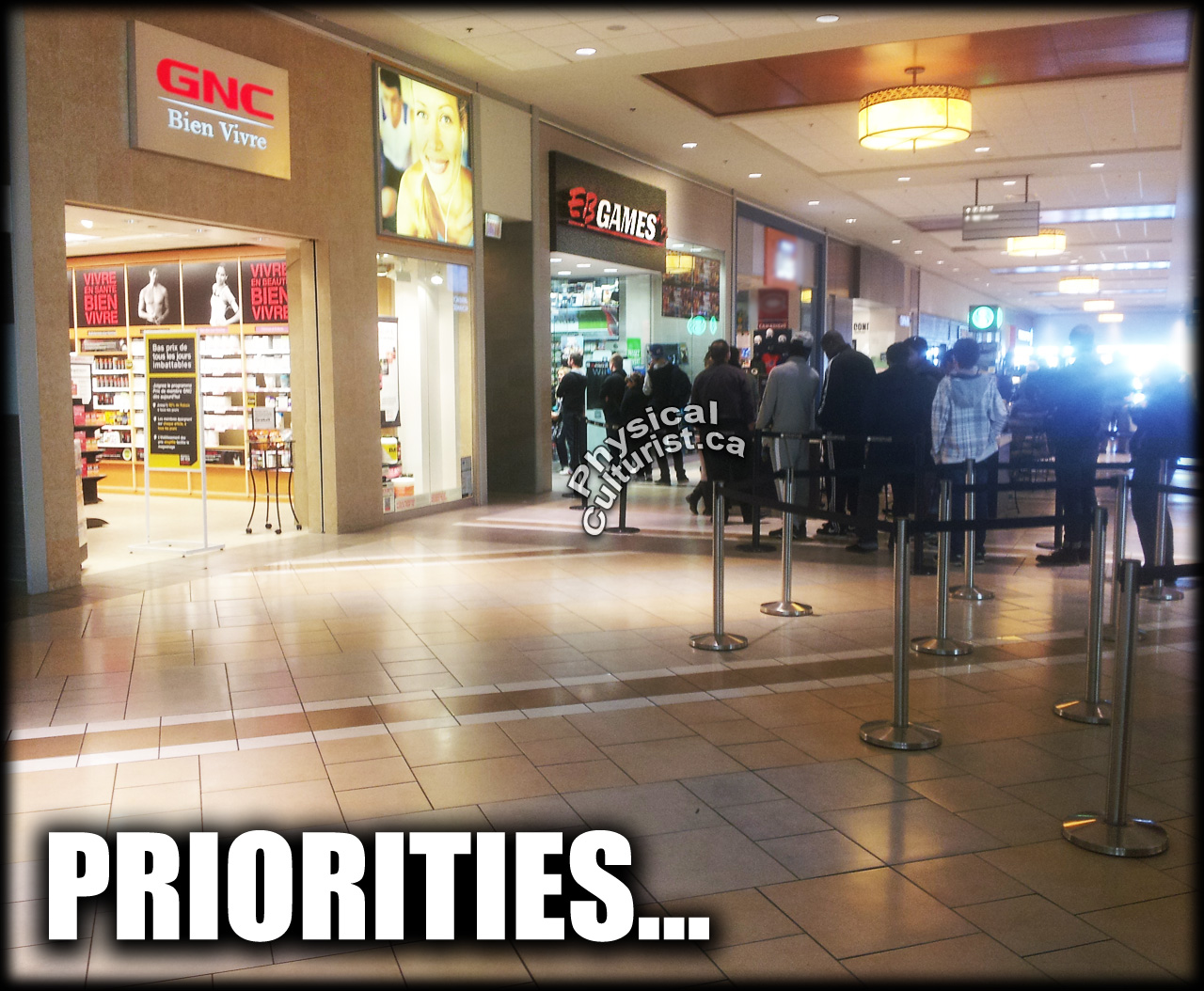 grand theft auto shopping mall line gnc vs eb games 2013