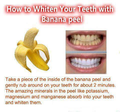 How to Whiten Teeth with Banana Peel