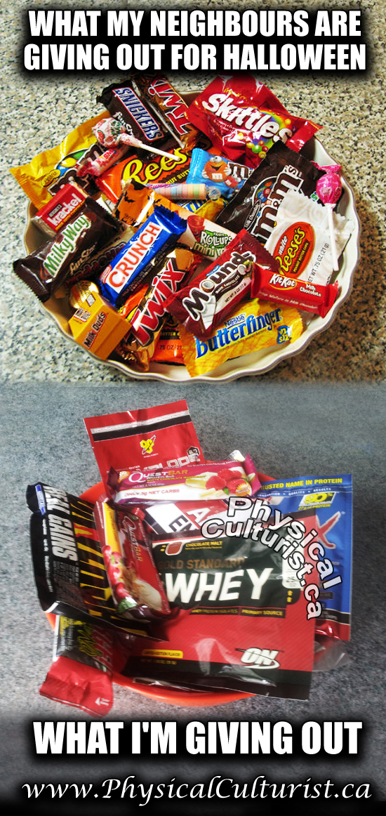 halloween candy vs supplements
