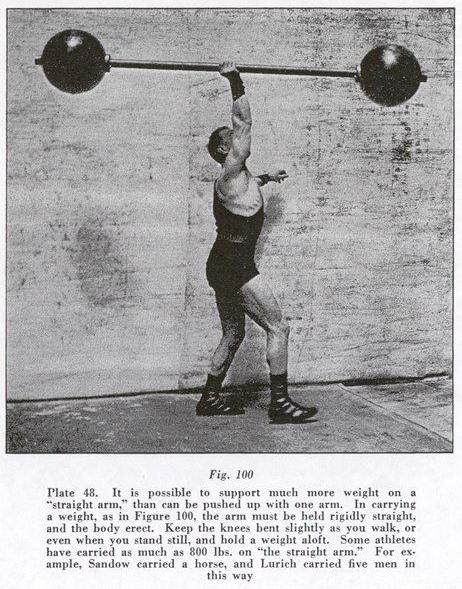 1 arm barbell press