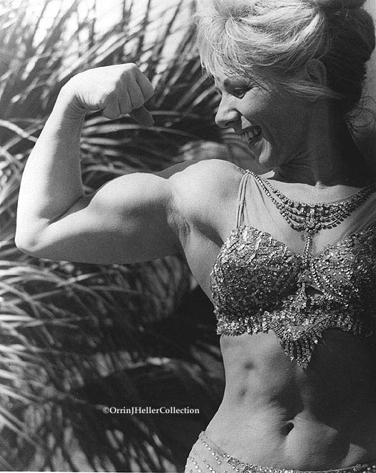 Oldtime Circus Strongwoman Flexing Her Bicep!
