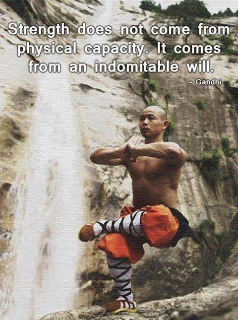 where strength comes from, training shaolin monk