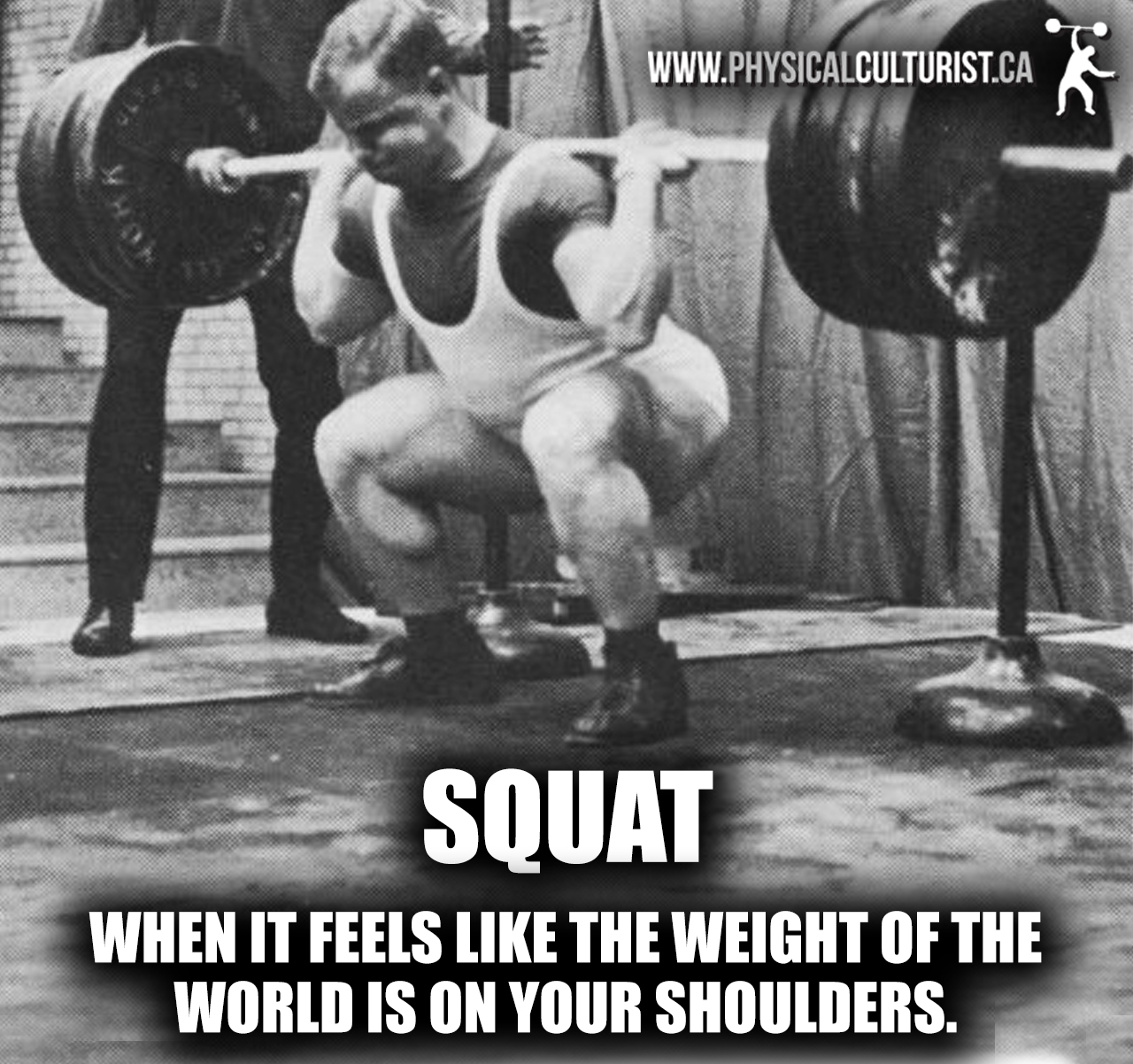 squat - when it feels like the weight of the world is on your shoulders