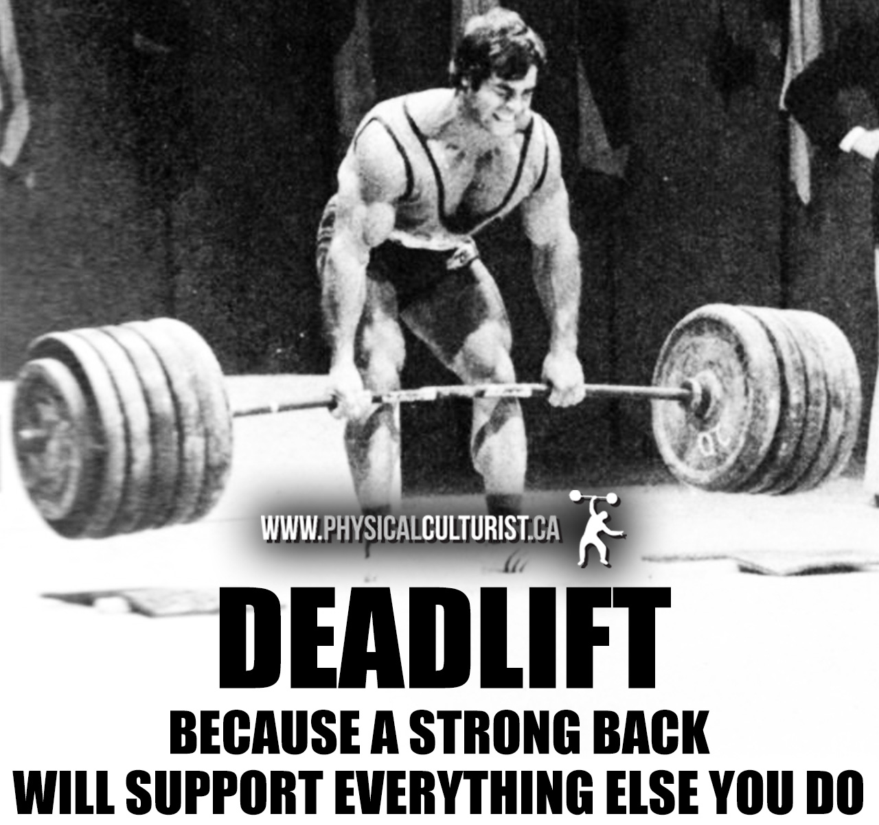 deadlift - because a strong back will support everything else you do