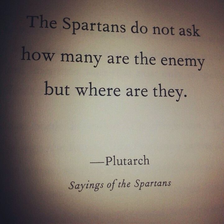 the spartans do not as how many are the enemy but where are they