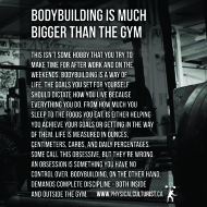 Bodybuilding Is Much Bigger Than The Gym
