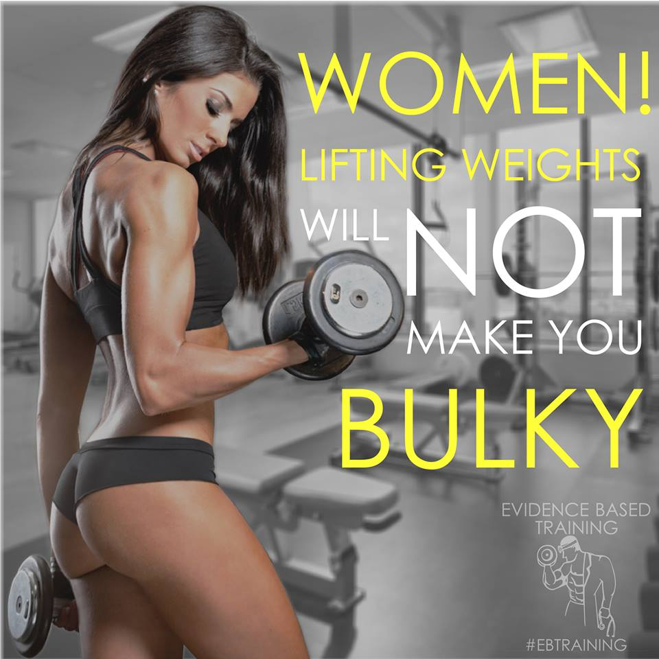 Women! Lifting Weights Will Not Make You Bulky