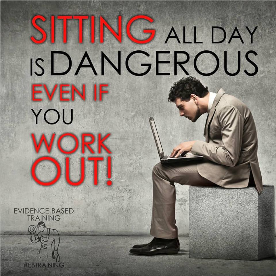 Sitting All Day Is Dangerous Even If You Work Out