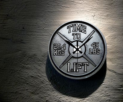 bodybuilding and fitness wall clocks