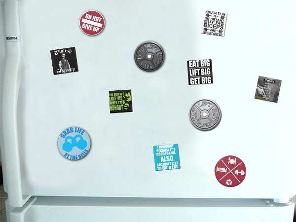 bodybuilding and fitness fridge magnets