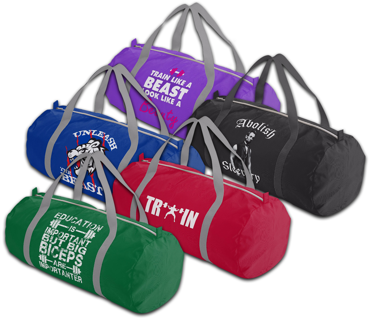 duffle gym bags for gym, bodybuilding, powerlifting, weightlifting, strongman, crossfit, wod, lifting, etc