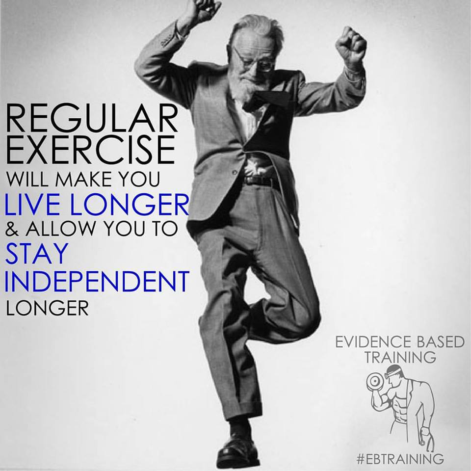 Regular Exercise Will Make You Live Longer and Stay Independent Longer
